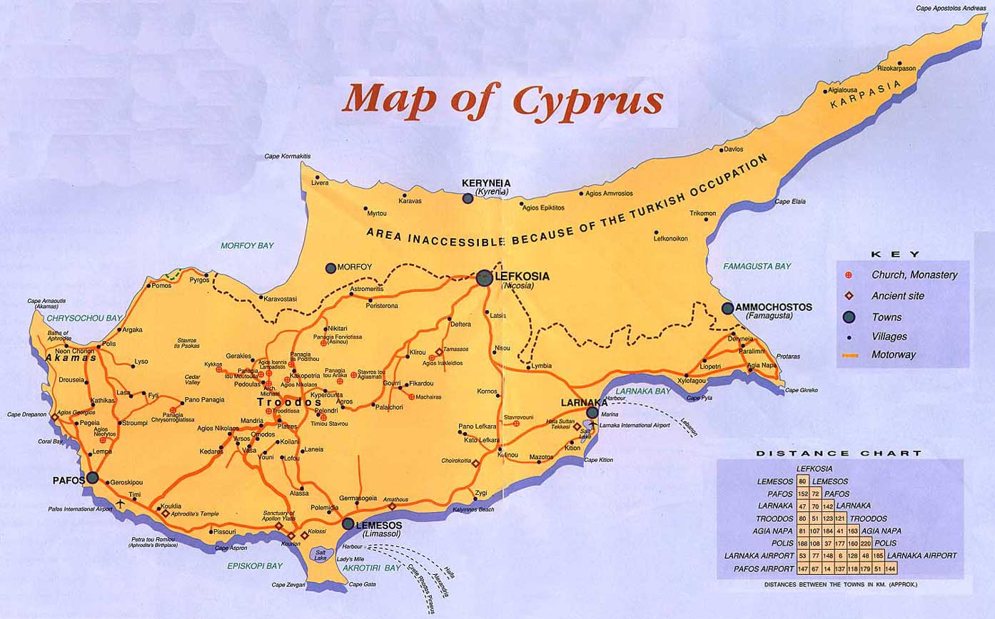 Maps of europe region country map of cyprus region country gumiabroncs Image collections