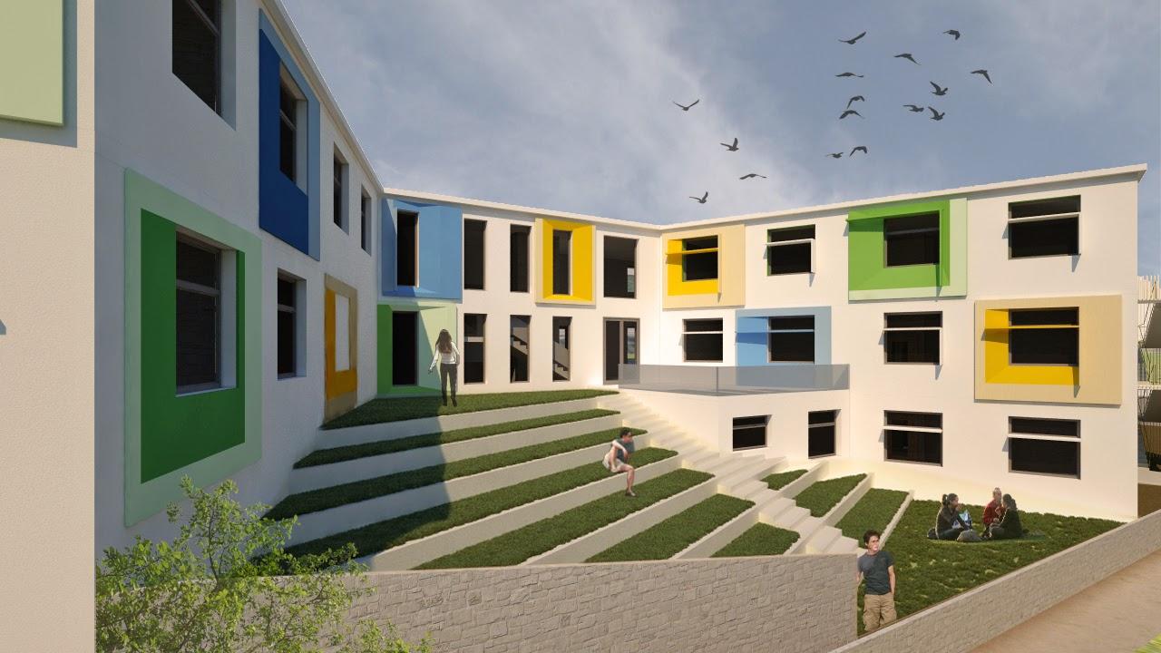 Progettazione del nuovo complesso scolastico for Progetti di edilizia eco friendly
