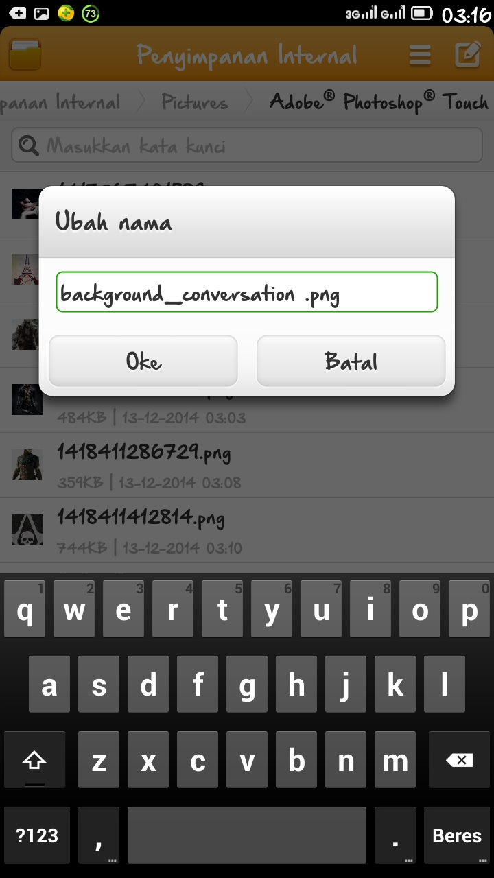 background conversation bbm