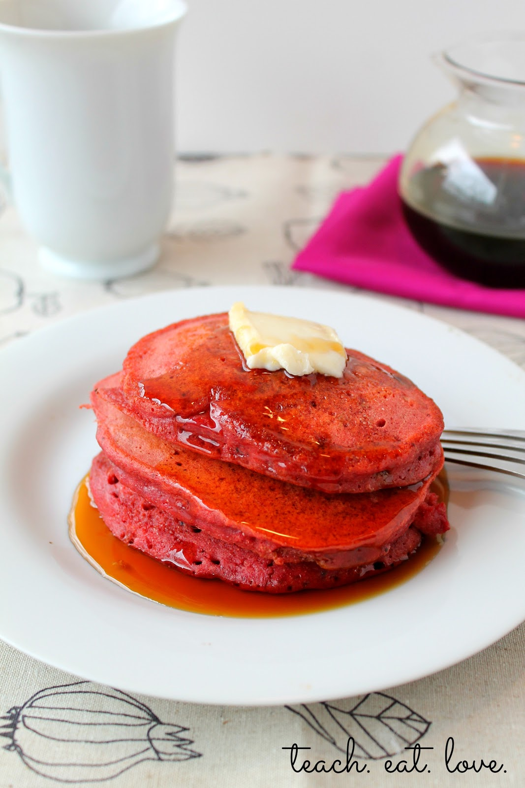 Red Velvet Pancakes – with beets! | Teach Eat Love