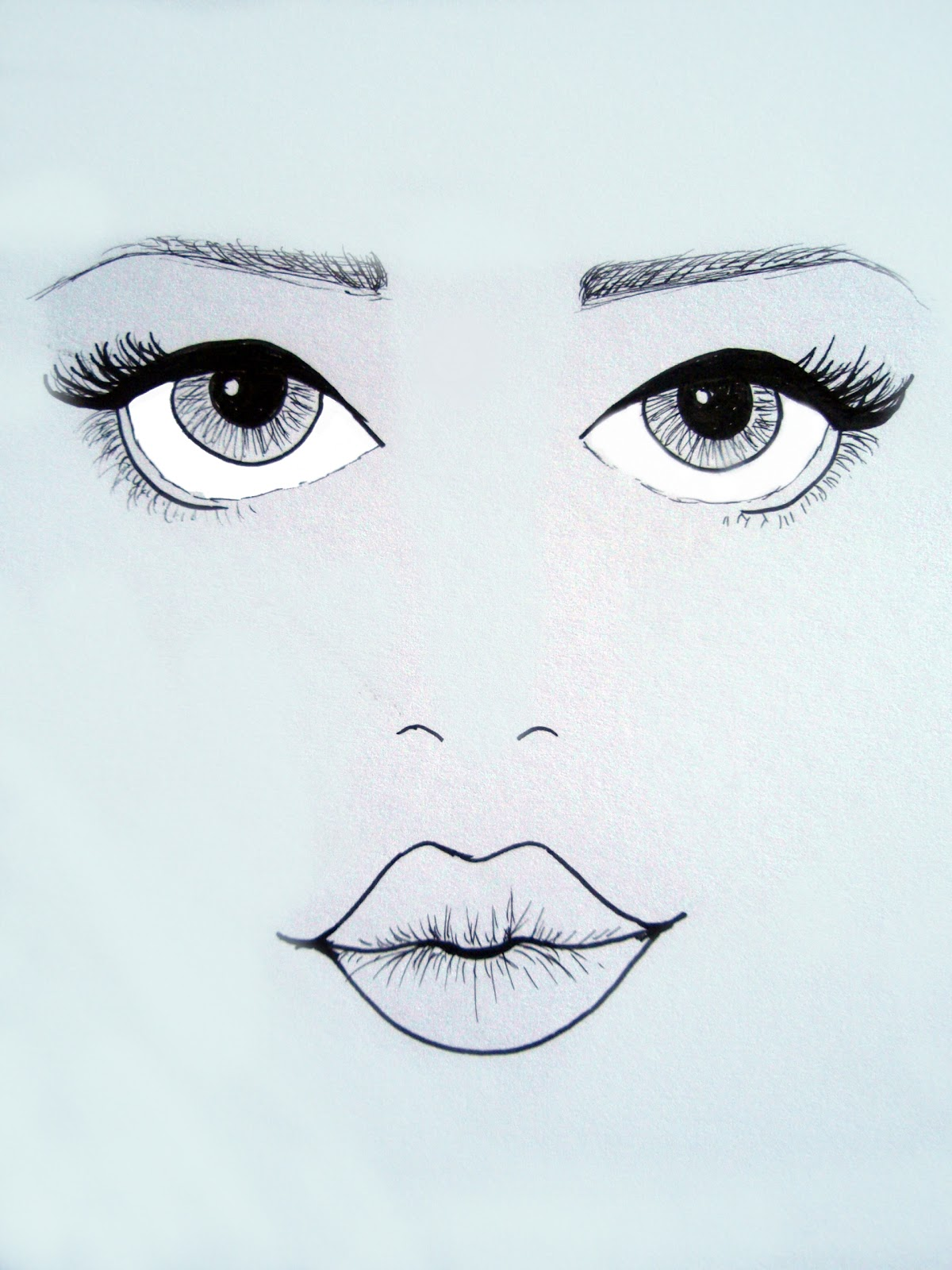 Lucy v b april 2012 for How to draw cute lips