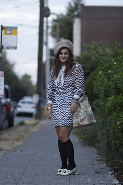 Rabia Qazi Rose WIndows Fur hat long collar floral bag Seattle Street Style
