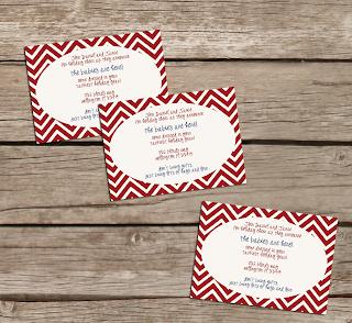 Christmas Chevron Invitations
