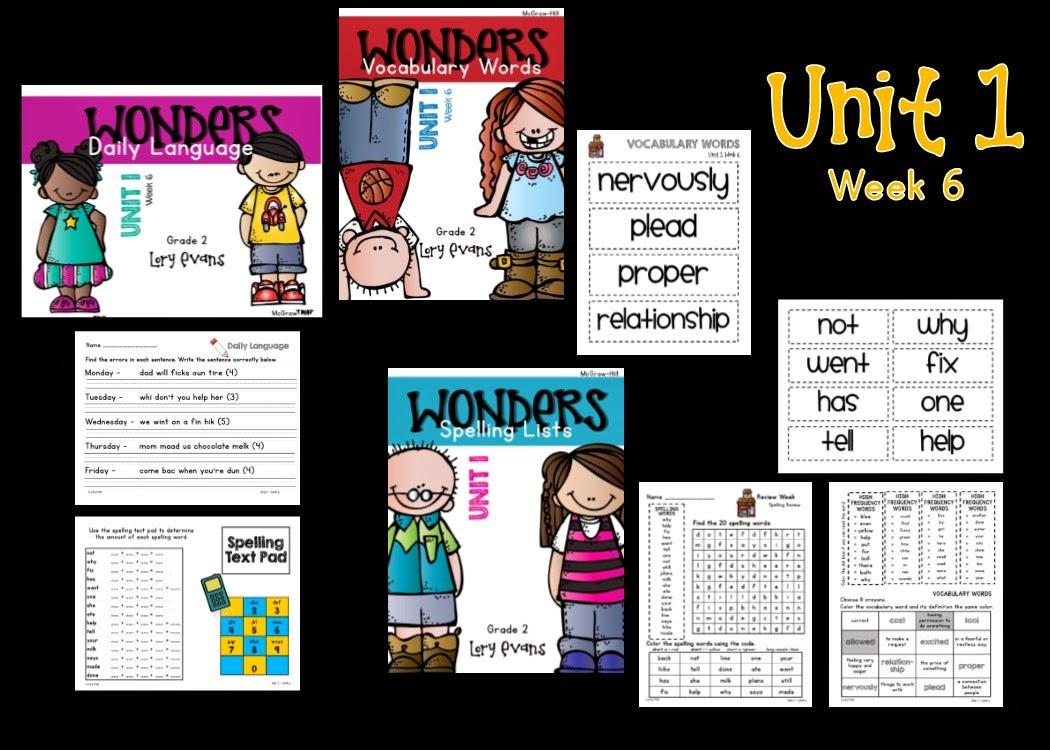 Lory's 2nd Grade Skills: Wonders Unit 1 Week 6