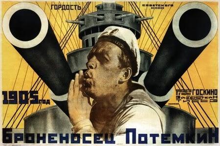 Imagen: Cartel oficial y original de : El Acorazado Potemkin de Eisenstein.
