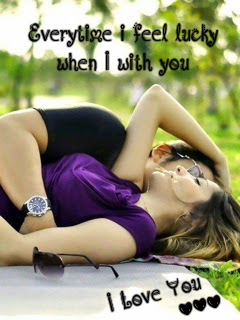 Every Time I Feel Lucky When I With You - Couple Love Wallpaper