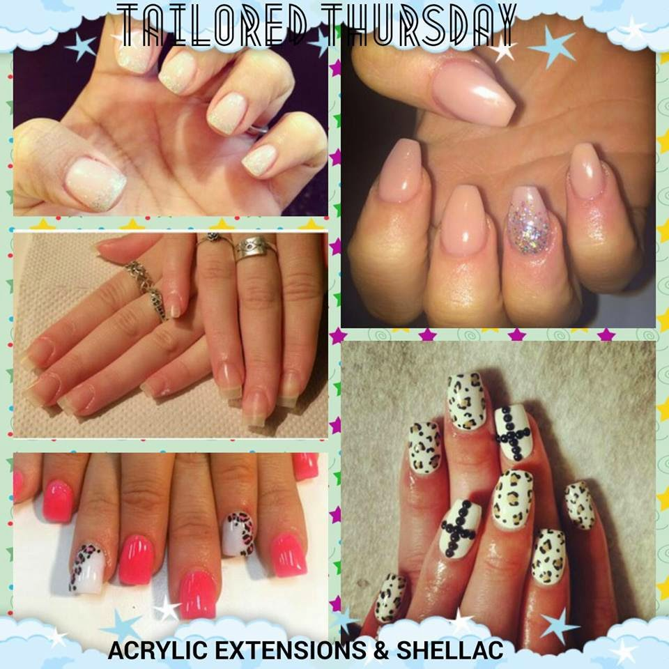 Acrylic extensions + Shellac manicure...a popular combo now at this cray cray price of $50 till the end of the month + the ever all time fave The Classic French White Acrylics