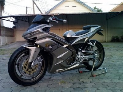 Modif Jupiter mx warna pelangi