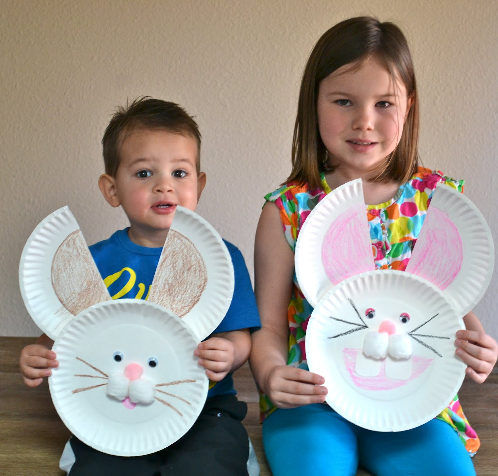 paper plate bunny craft  sc 1 st  Real Life One Day at a Time - Blogger & Real Life One Day at a Time: paper plate bunny craft