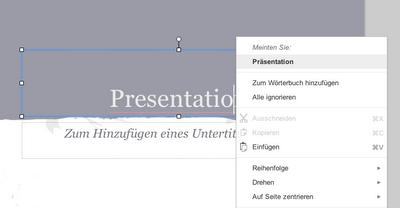 Screenshot einer Google Präsentationen-Folie