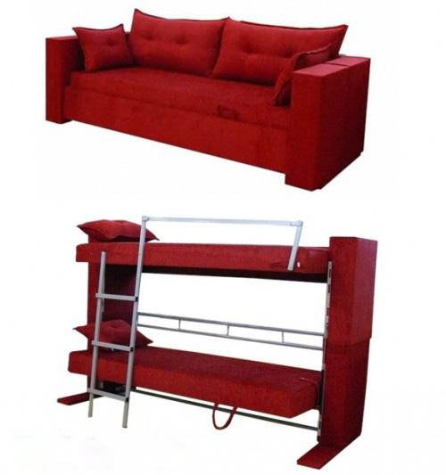 designer Decoração 2013 Sofá-cama e beliche