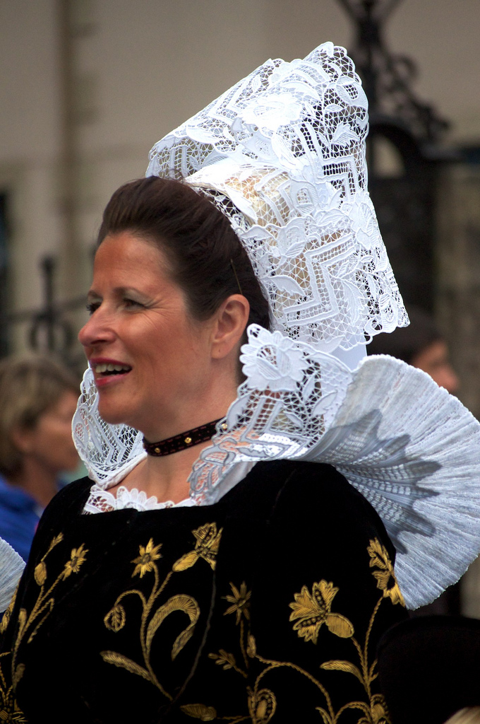 Traditional headdress of the women of Brittany