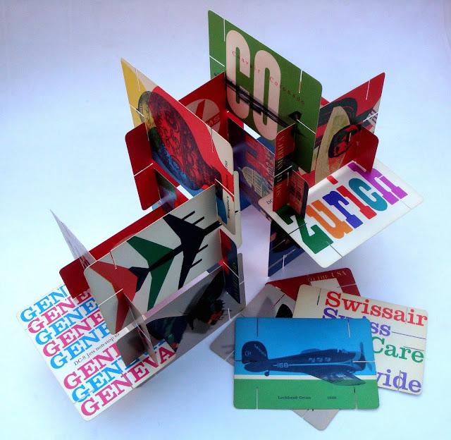 {Design} Swissair House of cards circa 1960