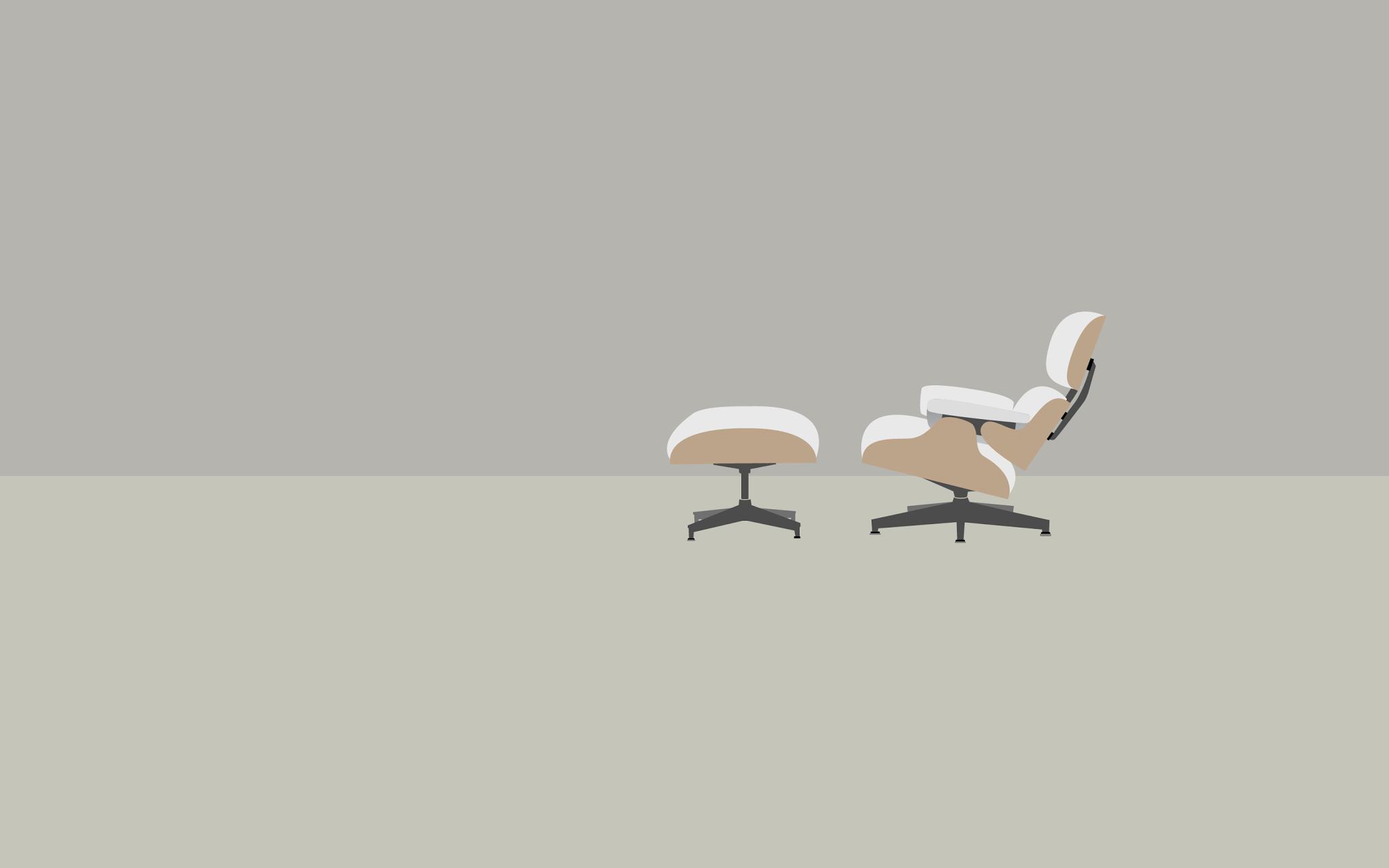 Eames lounge chair vector wallpaper by aarne huttunen