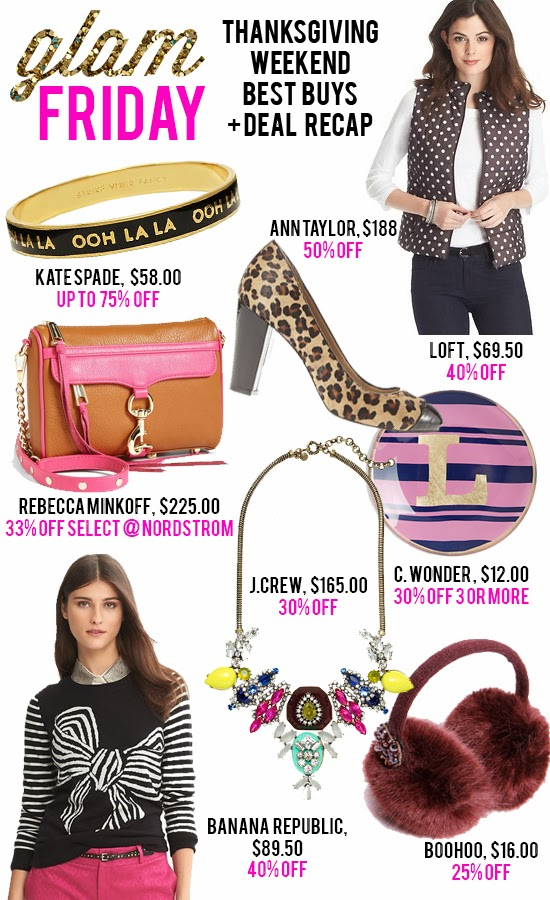 GLAM FRIDAY: Thanksgiving Weekend's Best Buys + Deal Recap! >> See the Sales http://lapetitefashionista.blogspot.com/2013/11/glam-friday-thanksgiving-weekends-best.html