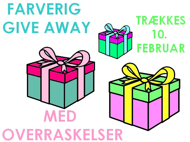 Give away her på bloggen!