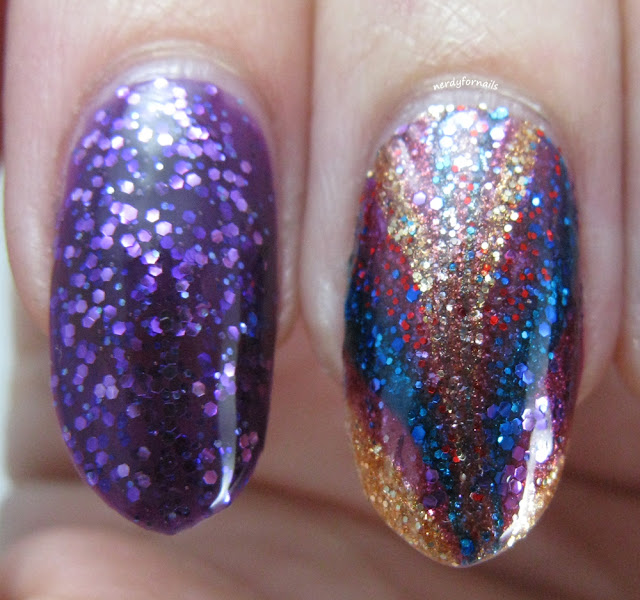 NYC Glitter Nail Polish Water Marble NY Princess