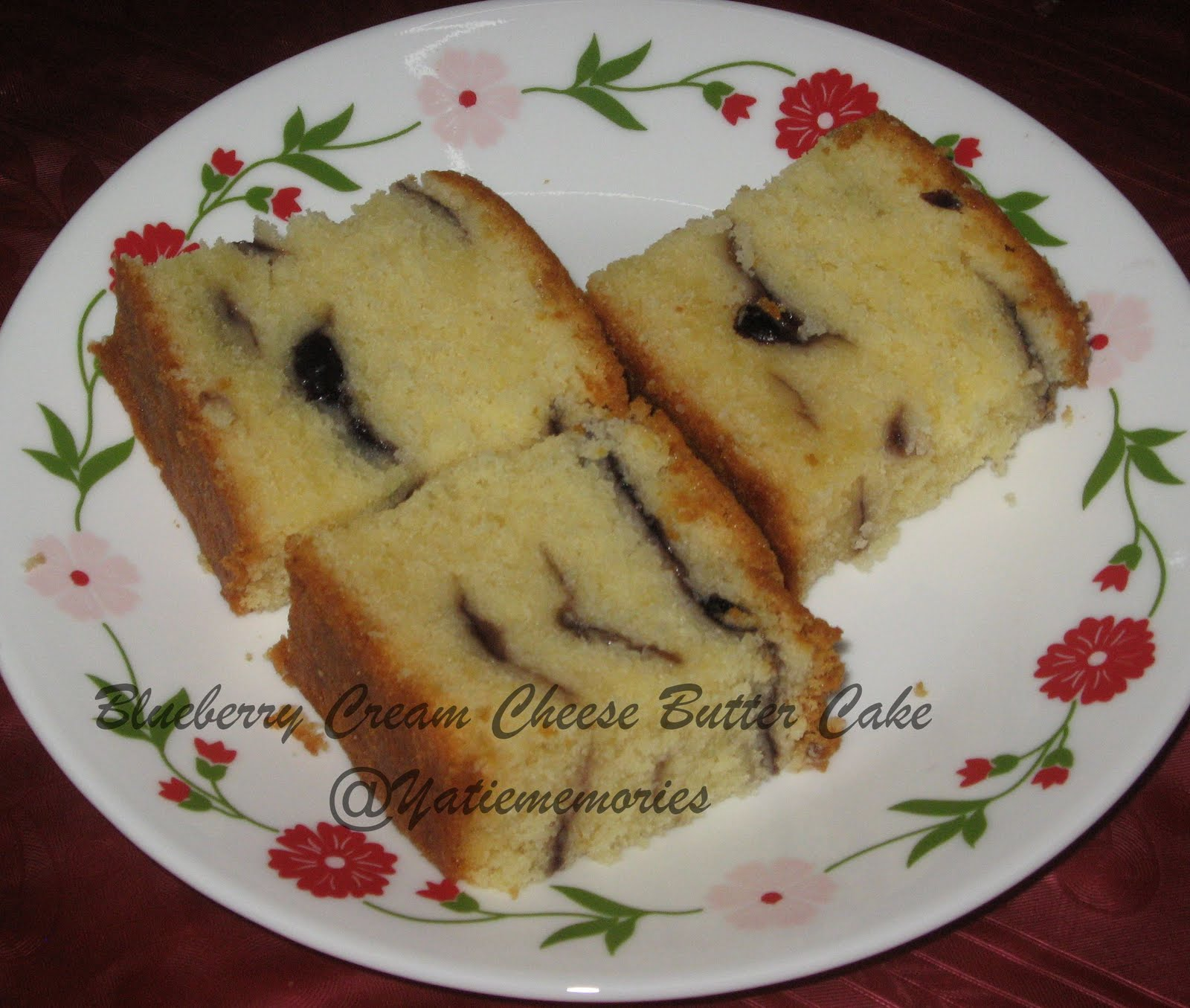 Sinar Kehidupanku**~::..: Blueberry Cream Cheese Butter Cake