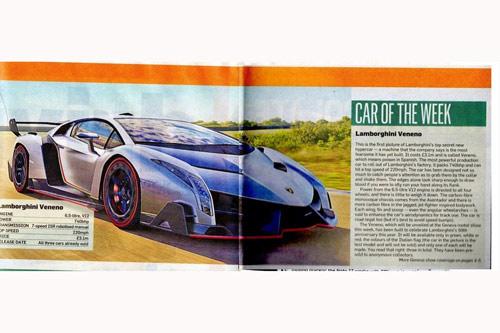 Veneno siêu xe nhanh nhất của Lamborghini