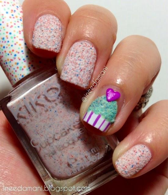 kiko cupcake 647 cupcake heart nails