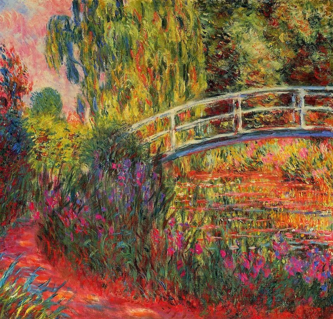 Art artists claude monet part 22 1896 1897 1926 for Monet lily painting
