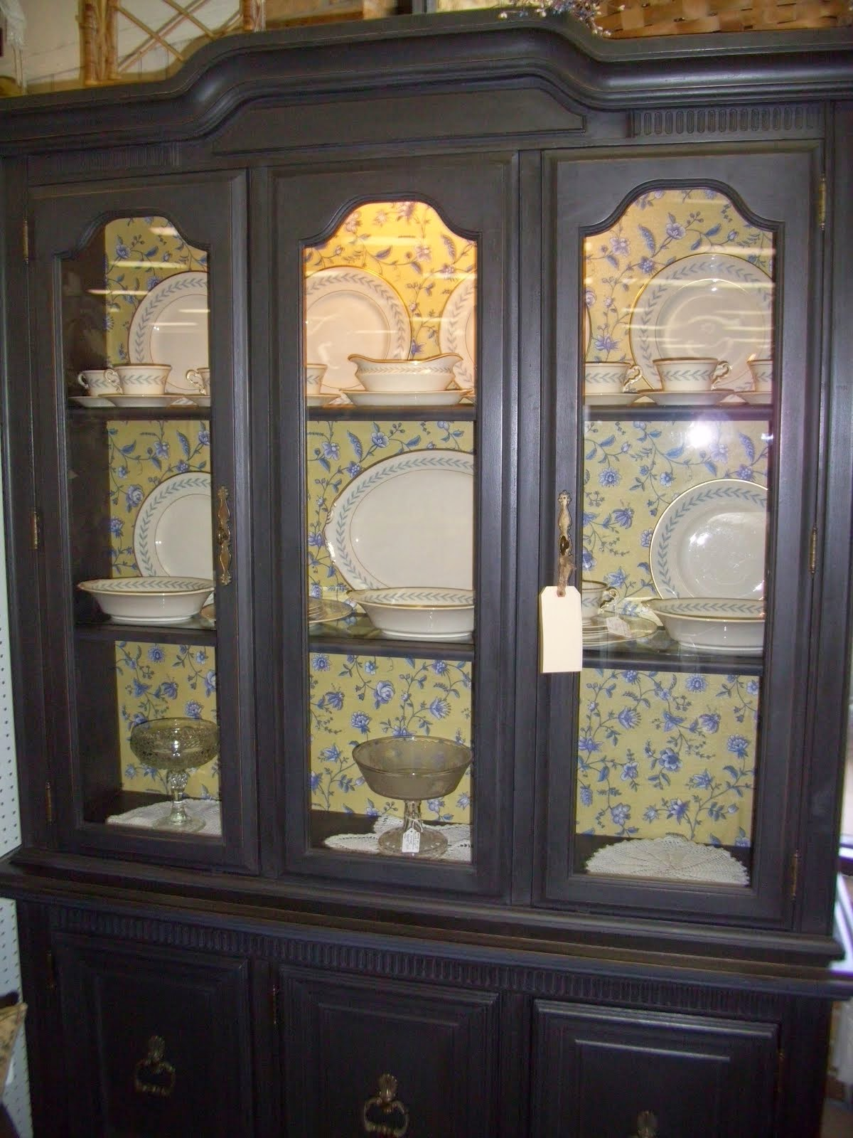Handpainted China Cabinet