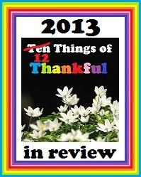Ten Things of Thankful