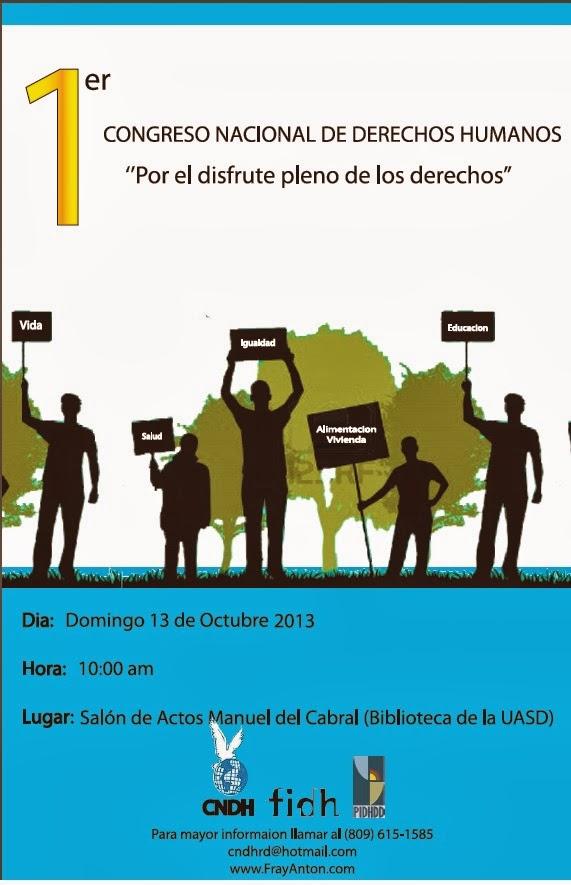 1ER CONGRESO NACIONAL DE DERECHOS HUMANOS