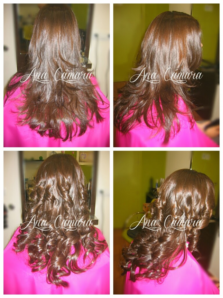 Peinado rizado con plancha