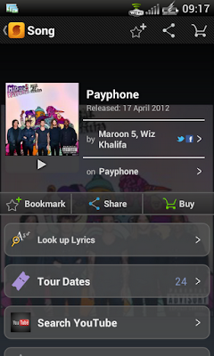 Cari Judul Lagu SoundHound for android