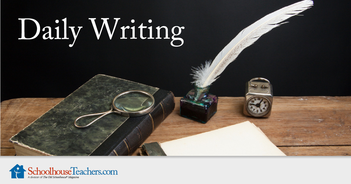 Create a writing habit.