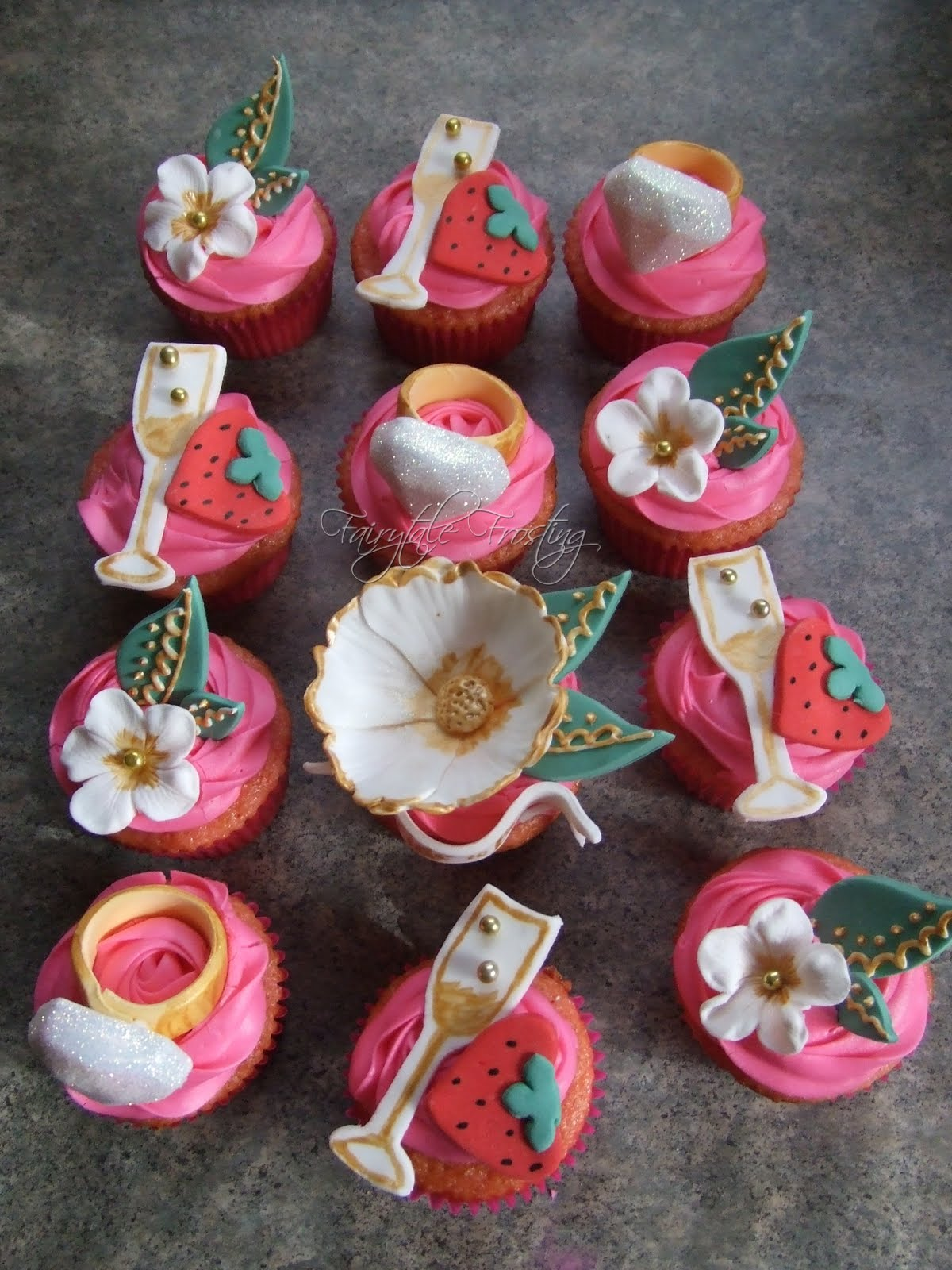 Pink Bachelorette Cupcakes