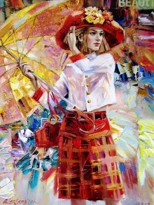 cuadros de mujeres con sombreros