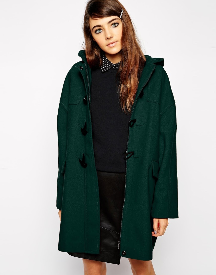 dark green wool coat