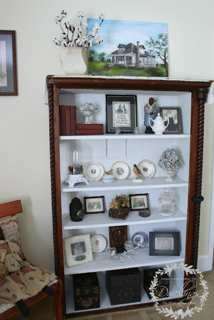 Farmhouse Style Guest Room Cupboard