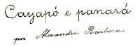 Detalhe da folha de rosto do manuscrito de Alexandre de Souza Barbosa