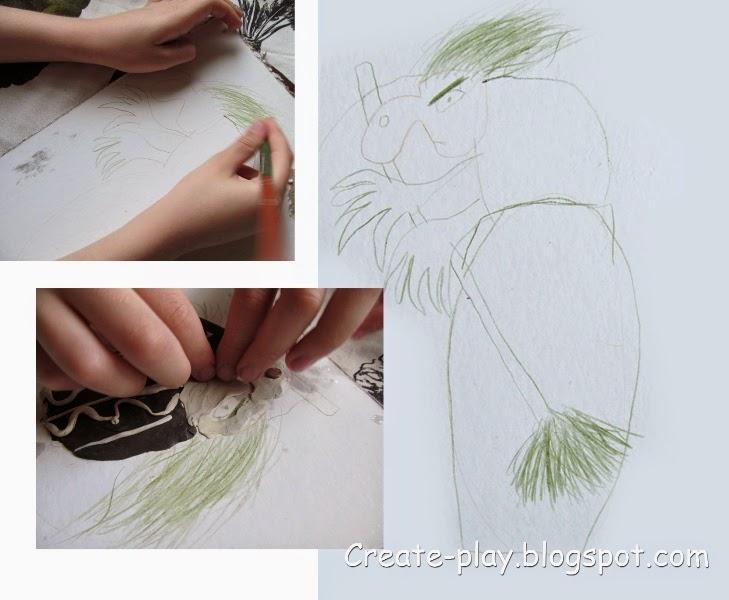 Баба-Яга рисунок