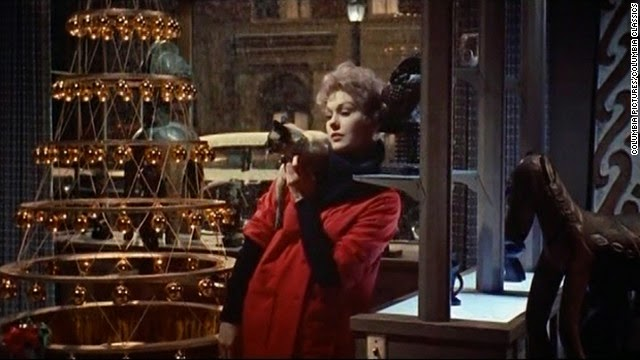 novak, gill, kim, bell book and candle, movie, film, costumes, clothes, red,