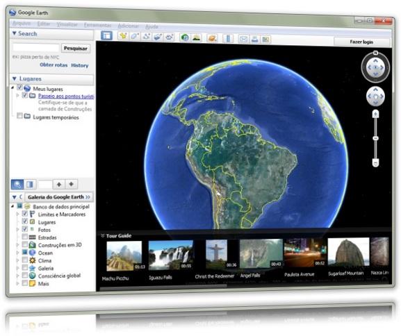 interface Google Earth
