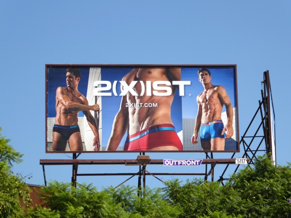 2Xist Barcode mens underwear billboard