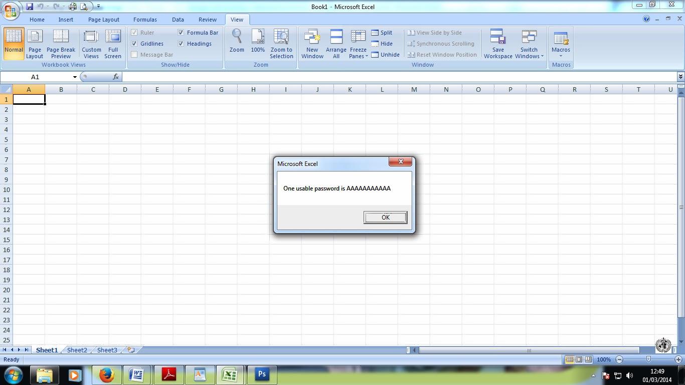 Excel worksheet protection