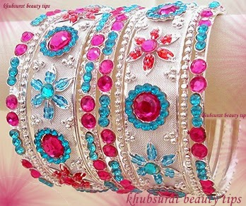 Beautiful fancy bangles for brides 2014