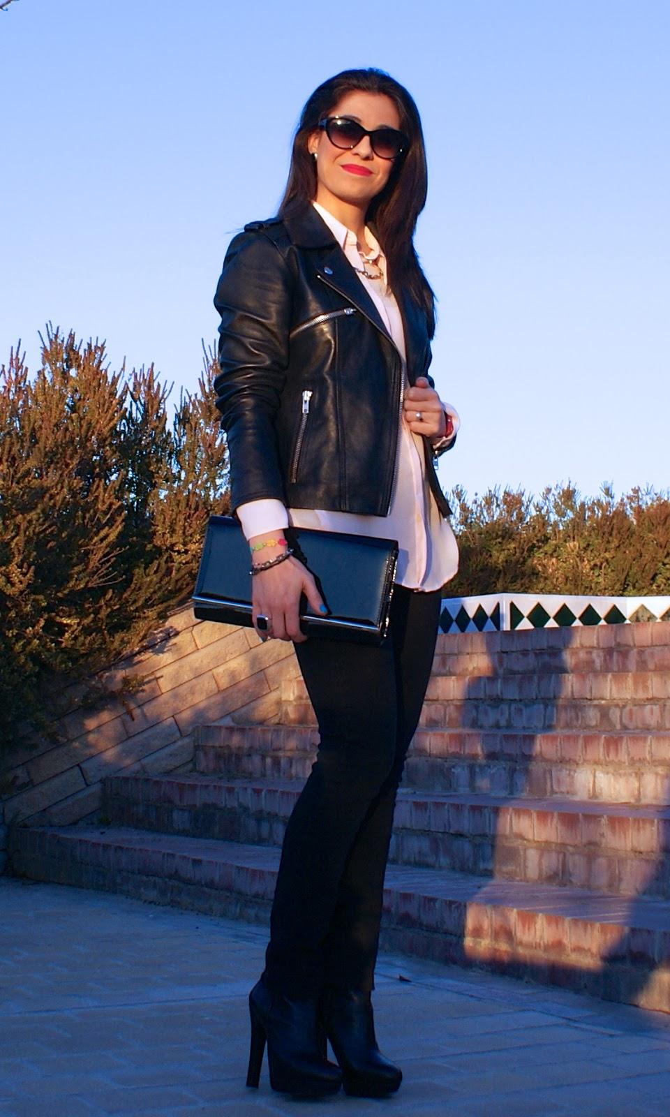 lacaprichossa, fashion blogger, botines zara, perfecto jacket, cruciani, tous