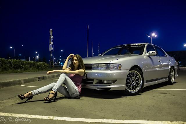 Toyota Cresta X90, kobiety z samochodami, zdjęcia, galeria