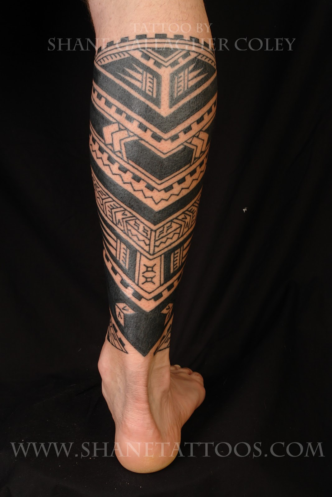 MAORI POLYNESIAN TATTOO Polynesian Calf Tattoo On Cam