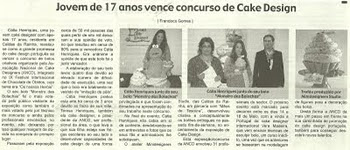 Vencedora do Concurso Cake Design