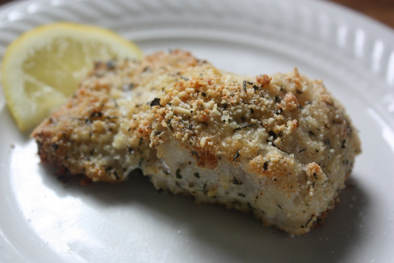 Oven baked breaded hake fillet for Breaded fish in oven