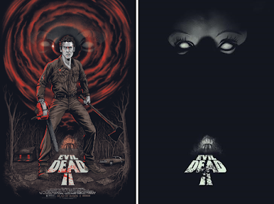 Evil Dead 2 Glow in the Dark Variant Screen Print by Gary Pullin