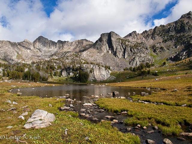 Beehive Basin lake,  Spanish Peaks, Montana.
