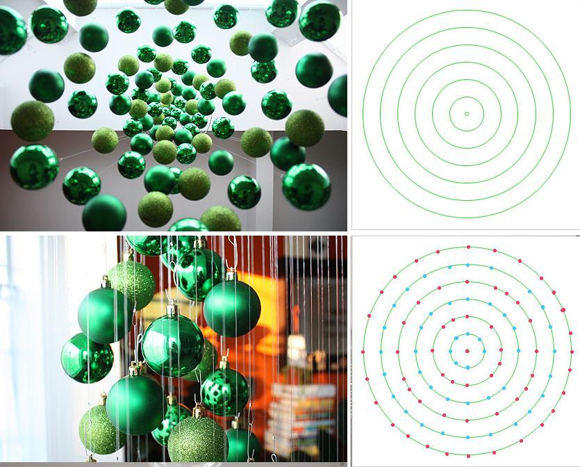 Navidad navidad arbol de navidad invisible o flotante - Como hacer bolas para el arbol de navidad ...